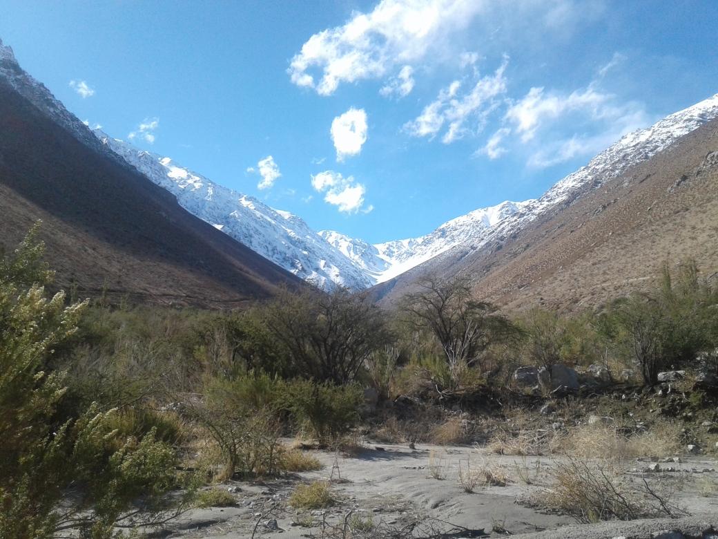 paysage de la vallée de cochiguaz au chili
