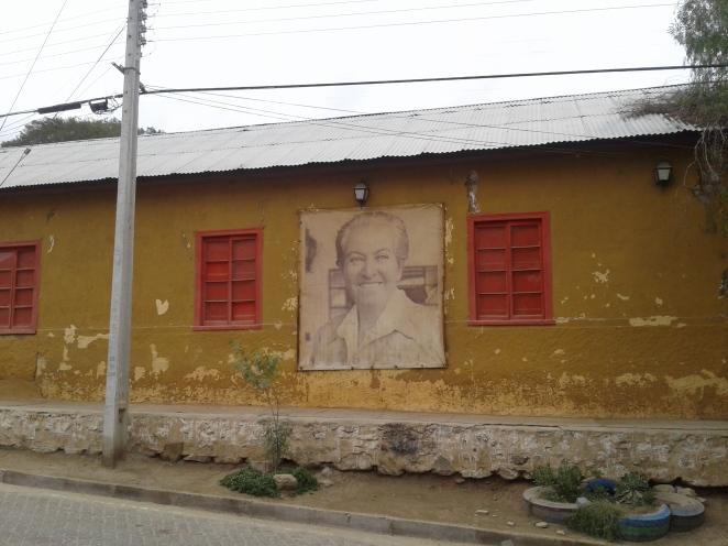 portrait de gabriela mistral à monte grande dans la vallée del elqui eu chili