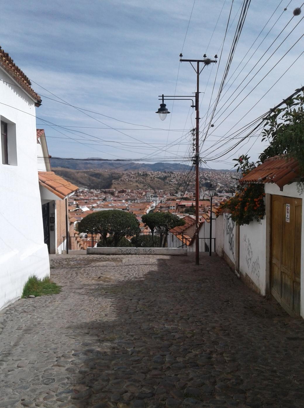 Vu de Sucre depuis le quartier de Recoleta à Sucre en Bolivie