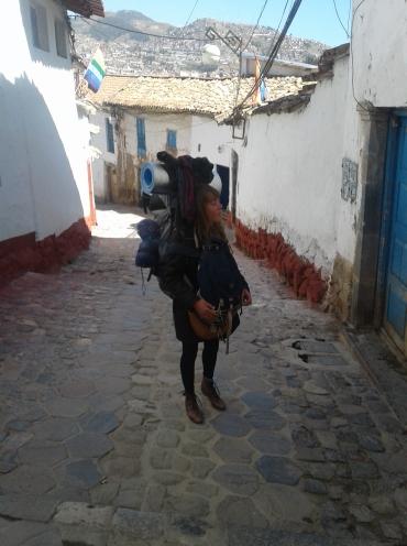 Escalier dans le quartier de san blas à Cuzco