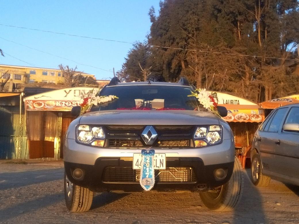 Bénédiction de voiture à copacabana en Bolivie