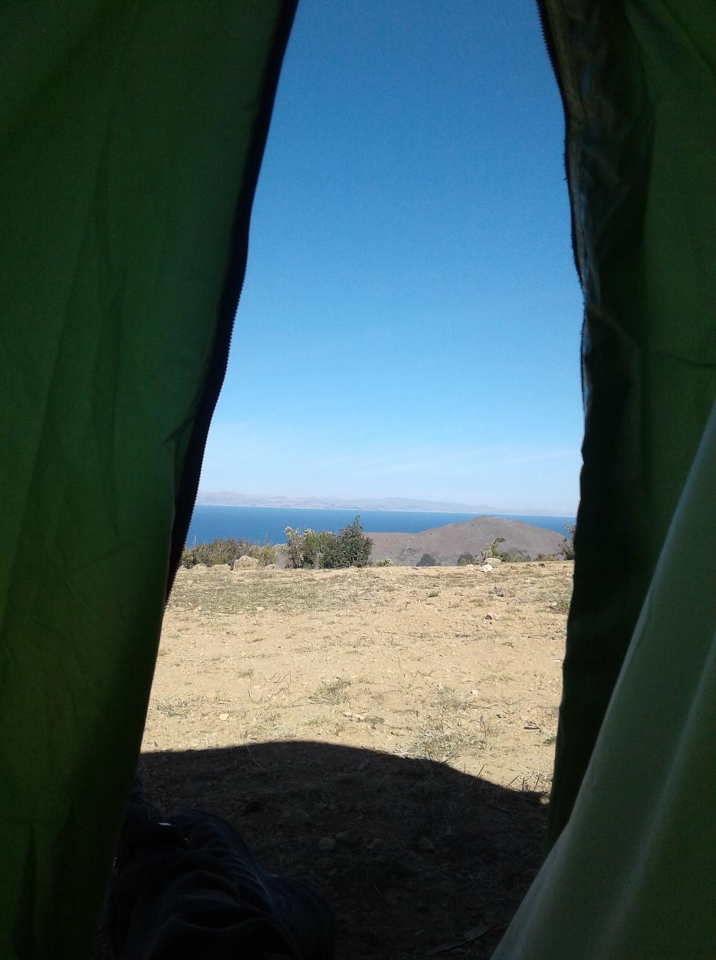 camping à l'isla del sol en Bolivie