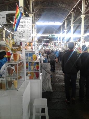 Intérieur du marché San Pedro de Cuzco