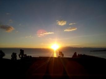 Couché de soleil sur l'isla del sol